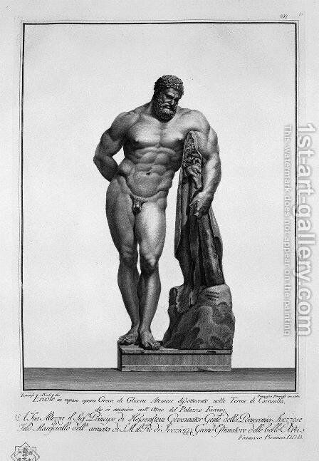 Farnese Hercules by Giovanni Battista Piranesi - Reproduction Oil Painting