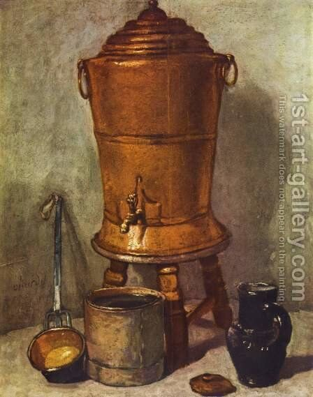 The water tank by Jean-Baptiste-Simeon Chardin - Reproduction Oil Painting