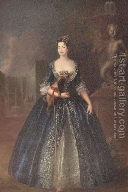 Anna Karolina Orzelska by Antoine Pesne - Reproduction Oil Painting