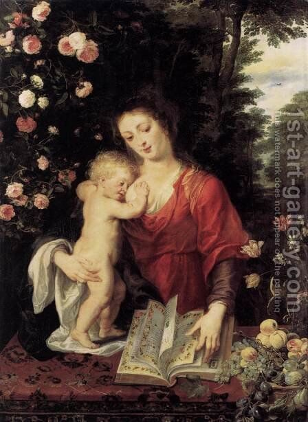 Virgin  and  Child 3 by Rubens - Reproduction Oil Painting