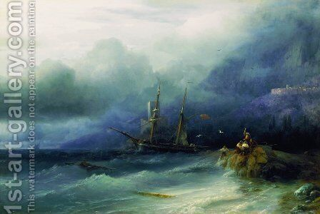 The Tempest 3 by Ivan Konstantinovich Aivazovsky - Reproduction Oil Painting
