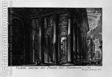 The Roman antiquities, t. 1, Plate XIV. Pantheon. 2 by Giovanni Battista Piranesi - Reproduction Oil Painting