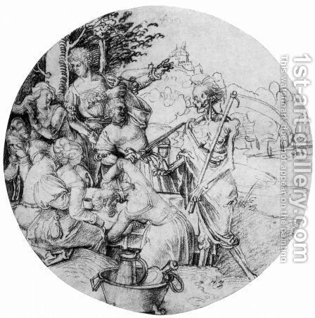 ScheibenriSs Tafelnde society and death by Albrecht Durer - Reproduction Oil Painting