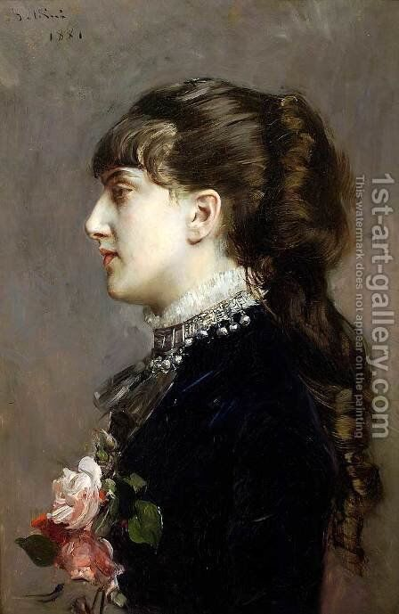 Madame Leclanche by Giovanni Boldini - Reproduction Oil Painting
