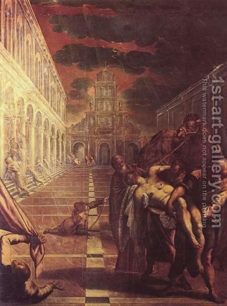 Recovery of the corpse of St. Mark by Jacopo Tintoretto (Robusti) - Reproduction Oil Painting