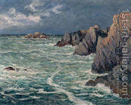 Domois shore (Belle-Ile-en-Mer) by Maxime Maufra - Reproduction Oil Painting