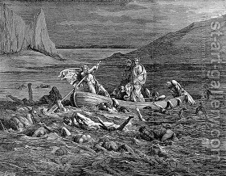 The Styx--Phlegyas by Gustave Dore - Reproduction Oil Painting