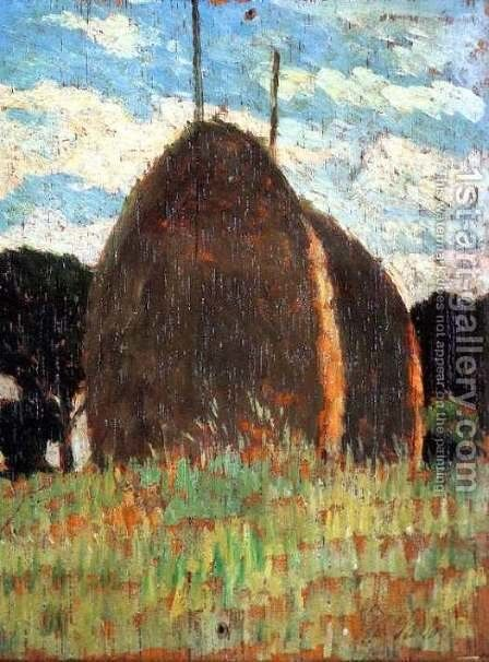 Hay Stacks by Giovanni Fattori - Reproduction Oil Painting