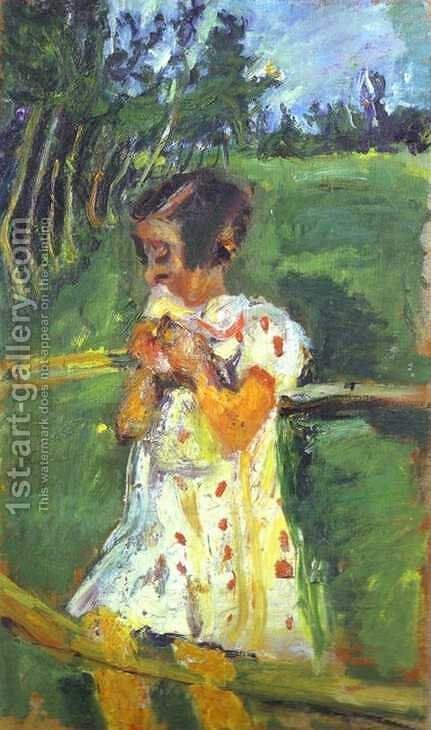 Girl at Fence by Chaim Soutine - Reproduction Oil Painting