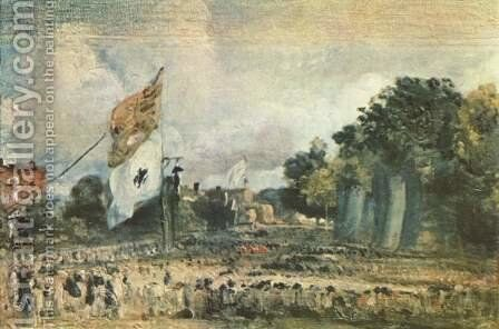 Celebration of the General Peace of 1814 in East Bergholt by John Constable - Reproduction Oil Painting