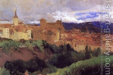 View of Segovia 2 by Joaquin Sorolla y Bastida - Reproduction Oil Painting