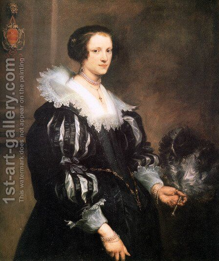 Anna Wake by Sir Anthony Van Dyck - Reproduction Oil Painting