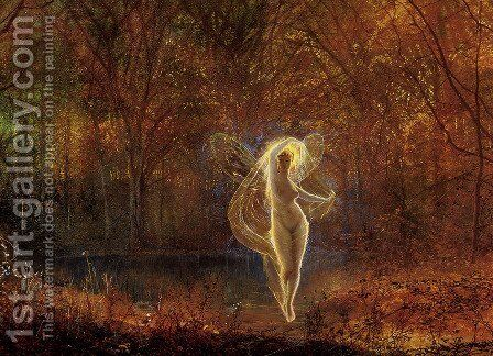 Dame Autumn has a mournful face by John Atkinson Grimshaw - Reproduction Oil Painting