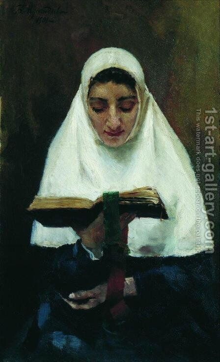 Abbess 4 by Boris Kustodiev - Reproduction Oil Painting