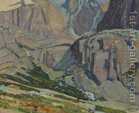 Valley and Stream, Oesa Trail, Lake O'Hara by James Edward Hervey MacDonald - Reproduction Oil Painting