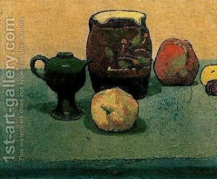 Earthware Pot and Apples by Emile Bernard - Reproduction Oil Painting