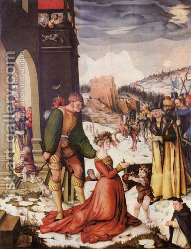 Beheading of St. Dorothea by Hans Baldung  Grien - Reproduction Oil Painting