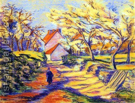 A la campagne by Armand Guillaumin - Reproduction Oil Painting