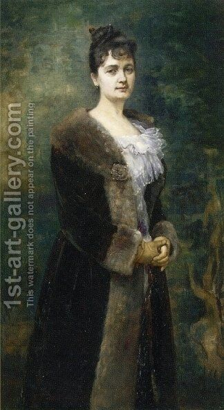 Portrait of M. L. Bion by Alfred Stevens - Reproduction Oil Painting
