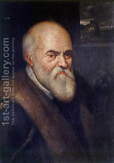 Italian scientist Ulisse Aldrovandi by Agostino Carracci - Reproduction Oil Painting