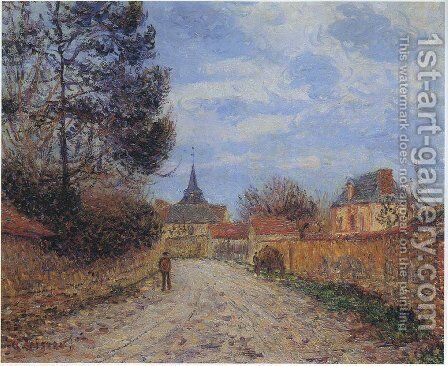 Church at Notre Dame by the Eure by Gustave Loiseau - Reproduction Oil Painting
