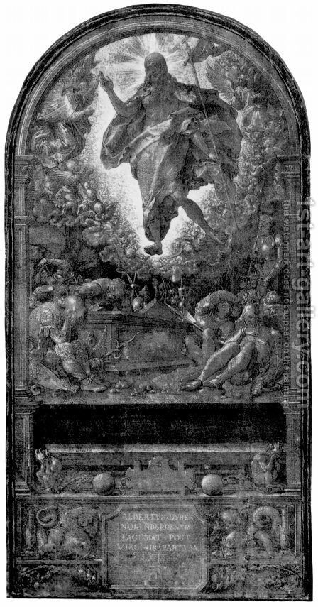 Design for the Fugger Chapel in Augsburg resurrection of Christ by Albrecht Durer - Reproduction Oil Painting