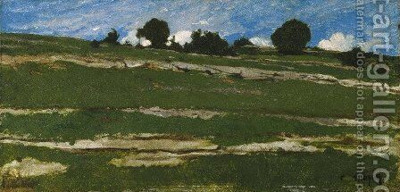 Hillside with Rocky Outcrops by Constant Troyon - Reproduction Oil Painting