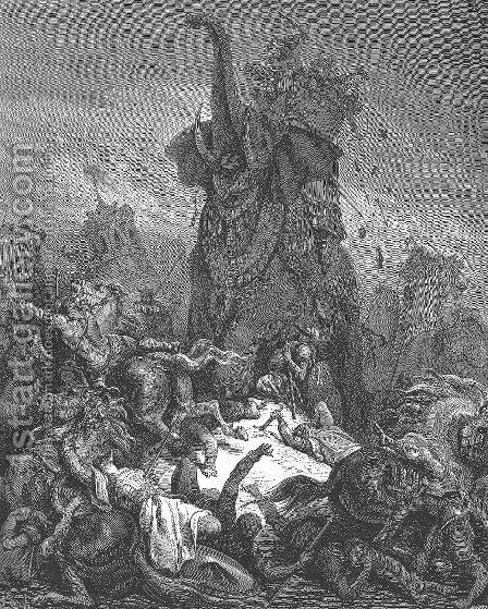 The Death of Eleazar by Gustave Dore - Reproduction Oil Painting