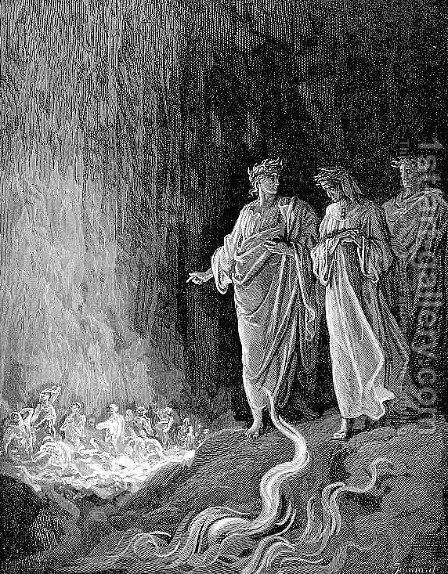The Seventh Circle II by Gustave Dore - Reproduction Oil Painting