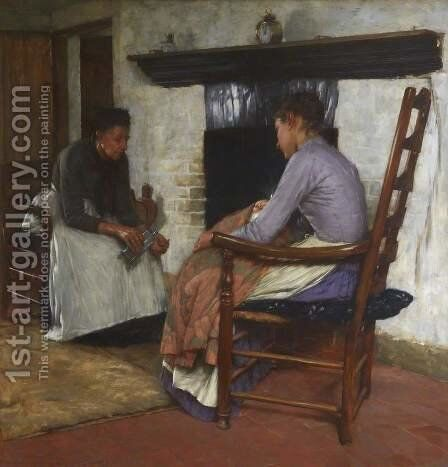 Some Poor People by Henry Herbert La Thangue - Reproduction Oil Painting