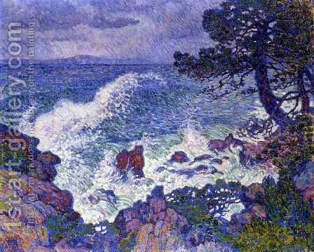 East Wind by Theo van Rysselberghe - Reproduction Oil Painting