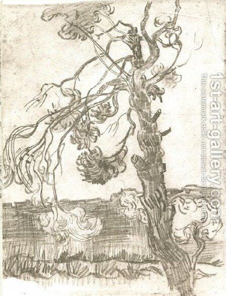 A Weather-Beaten Pine Tree by Vincent Van Gogh - Reproduction Oil Painting
