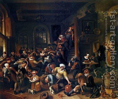 Egg Dance by Jan Steen - Reproduction Oil Painting