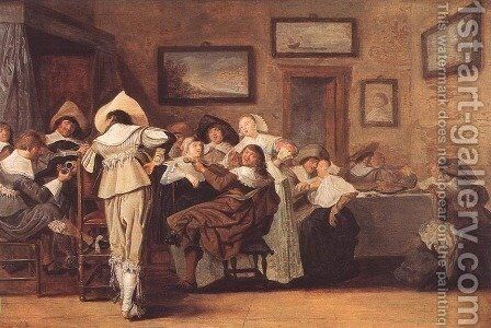 Merry Company by Dirck Hals - Reproduction Oil Painting