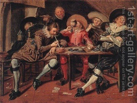 Merry Party in a Tavern 1628 by Dirck Hals - Reproduction Oil Painting