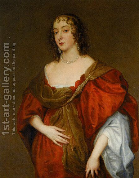 Portrait of a Lady 4 by Sir Anthony Van Dyck - Reproduction Oil Painting