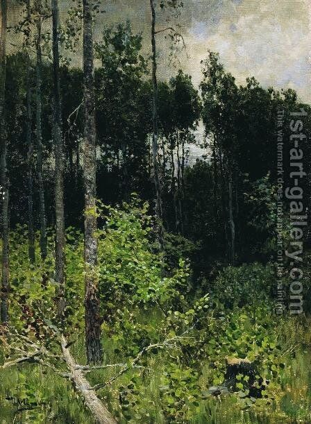 Aspen spinny. A gray day. by Isaak Ilyich Levitan - Reproduction Oil Painting