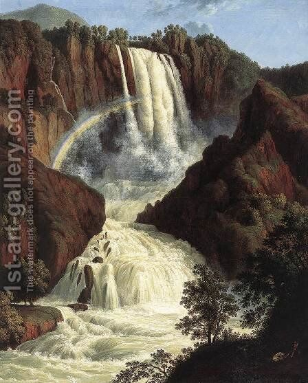 The Waterfalls at Terni 1779 by Jacob Philipp Hackert - Reproduction Oil Painting
