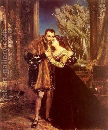 Sigmund and Barbara by Jan Matejko - Reproduction Oil Painting