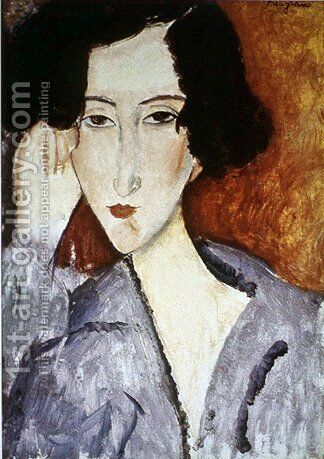 Portrait of Madame Rachele Osterlind by Amedeo Modigliani - Reproduction Oil Painting