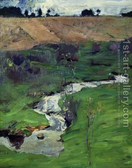 A creek 2 by Isaak Ilyich Levitan - Reproduction Oil Painting