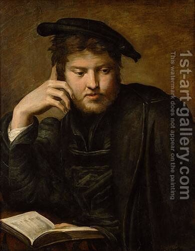 Man with a Book by Girolamo Francesco Maria Mazzola (Parmigianino) - Reproduction Oil Painting