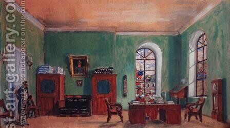 The Cabinet of Furnachev by Boris Kustodiev - Reproduction Oil Painting