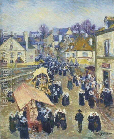 Street at Pont Aven by Gustave Loiseau - Reproduction Oil Painting