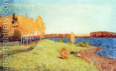 Golden autumn 2 by Isaak Ilyich Levitan - Reproduction Oil Painting