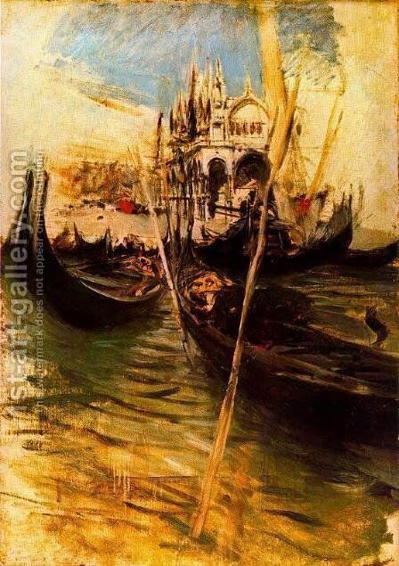 San-Marco in Venice by Giovanni Boldini - Reproduction Oil Painting