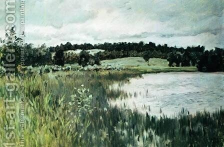 Gray day. by Isaak Ilyich Levitan - Reproduction Oil Painting