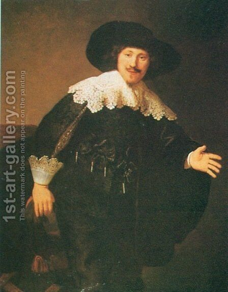 Man Standing Up by Rembrandt - Reproduction Oil Painting