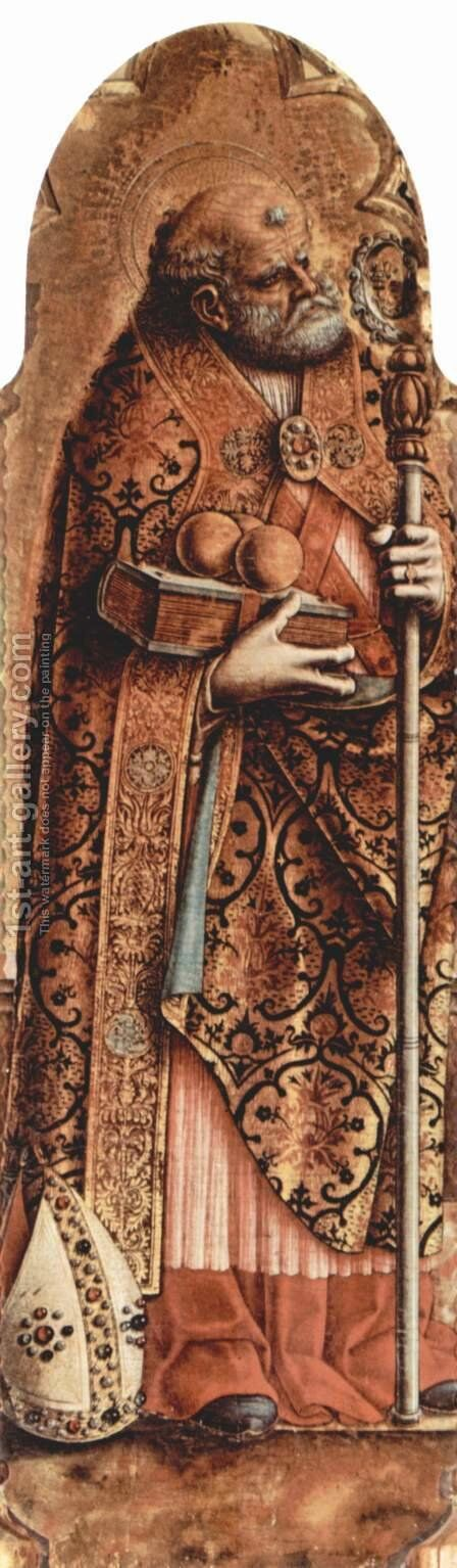 Saint Nicolas by Carlo Crivelli - Reproduction Oil Painting