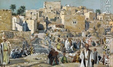 He Went Through the Villages on the Way to Jerusalem by James Jacques Joseph Tissot - Reproduction Oil Painting